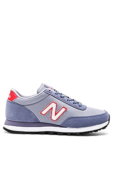 New Balance Classics Suede Ripstop Collection Sneaker in Lavender & Red
