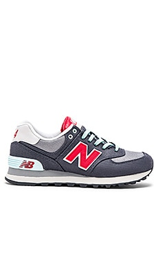 New Balance Winter Harbor Collection Sneaker in Grey & Red