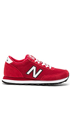 New Balance Classics All Suede Collection Sneaker in Red & White