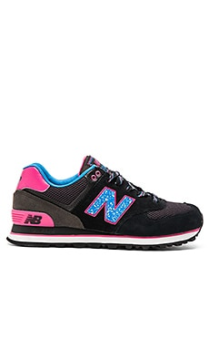 New Balance 574 Outside In Collection Sneaker in Black & Blue