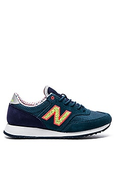 New Balance Capsule Street Beat Collection Sneaker in Navy & Yellow