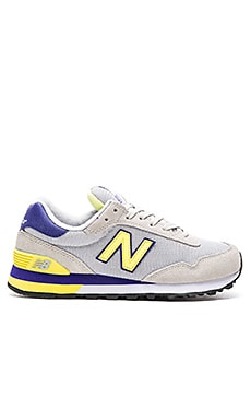 New Balance Classics NB Core Sneaker in Grey & Limeade & Purple