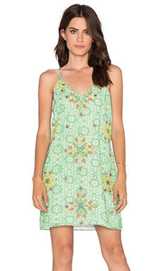 New Friends Colony Tank Mini Dress in Green Multi