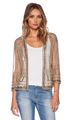 New Friends Colony Embellished Kimono en Beige