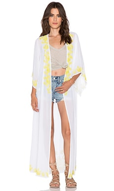 New Friends Colony Embellished Kimono in White