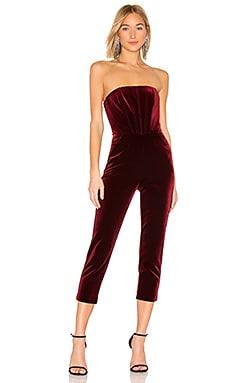 X Revolve Velvet Strapless Jumpsuit Nicholas 750