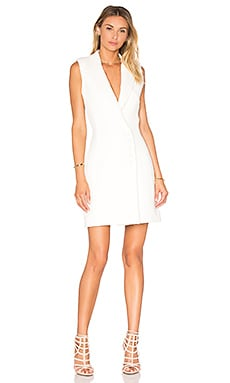 Textured Crepe Sleeveless Dress in Ivory