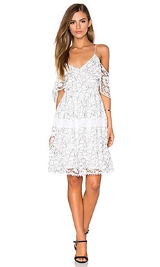 n / nicholas Basque Dress in White