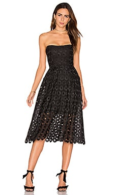 Spot Lace Ball Dress in Black
