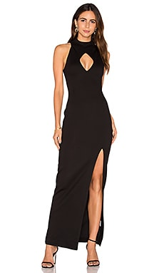 n / nicholas Diamond Cut-Out Gown in Black