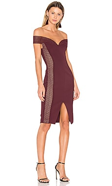 Bandage Cold Shoulder Dress in Plum