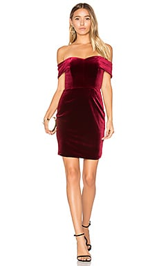 Velvet Mini Dress in Bordeaux