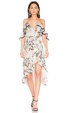 Iris Floral Wrap Dress in Iris Floral