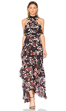 Bordeaux Floral Gown