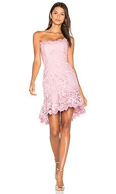Bellflower Mini Dress in Peony Pink