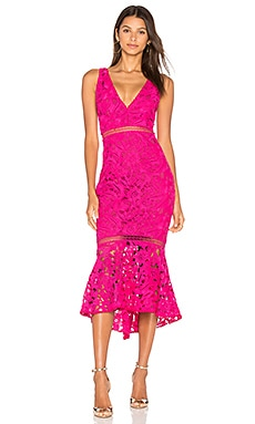 Azalia Lace Dress in Fuchsia Pink