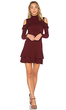 Rib Knit Ruffle Mini Dress
