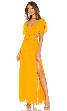 x REVOLVE Georgette Backless Gown NICHOLAS $517
