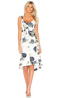 Купить Платье миди - NICHOLAS, В цветочек, Китай, Белый