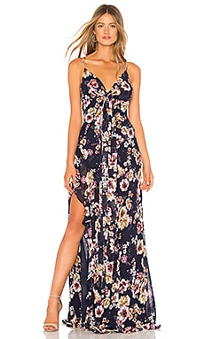 Garden Rose Tie Front Maxi Dress NICHOLAS $750