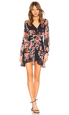 Rust Floral Pintuck Mini Dress NICHOLAS $417