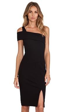 NICHOLAS Ponti Wrap Backless Dress in Black