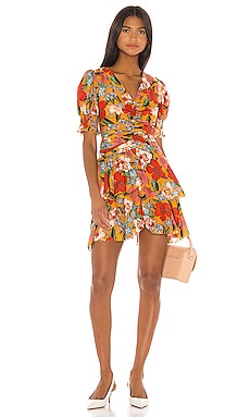 Puff Sleeve Pintuck Dress NICHOLAS $498