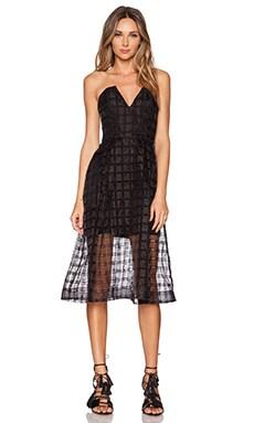 NICHOLAS Window Lace Bustier Dress in Black