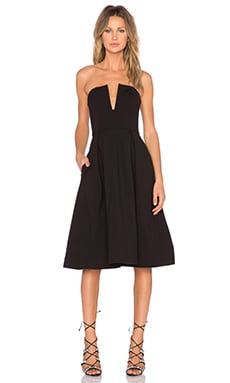 Ponti Strapless Ball Dress in Black