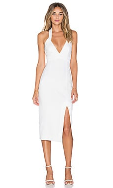 Ponti Diamond Cut Out Dress