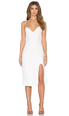 NICHOLAS Wave Lace Sweetheart Dress in White