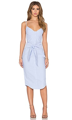 n / nicholas Cotton Oxford Bra Dress in Light Blue