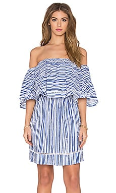 n / nicholas Frill Mini Dress in Washed Stripe