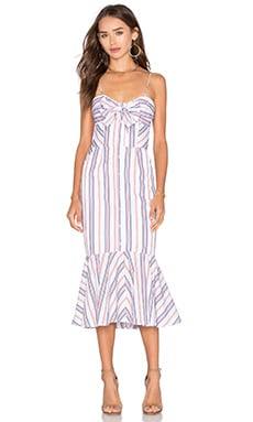 n / nicholas Stripe Tie Up Dress in Red Stripe