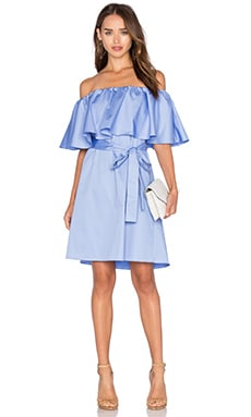 n / nicholas Off Shoulder Mini Dress in Hydrangea