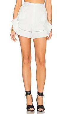 n / nicholas Peplum Hem Short in White