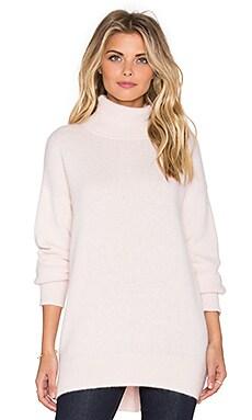 NICHOLAS Angora Oversized Turtleneck Sweater in Blush