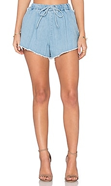 Denim Short in Light Blue