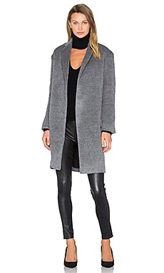 Notch Lapel Coat in Grey