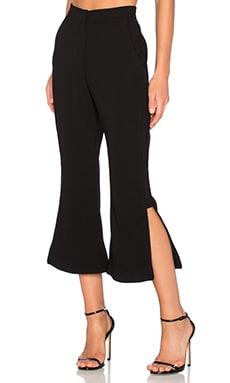 n / nicholas Panelled Flare Pant in Black