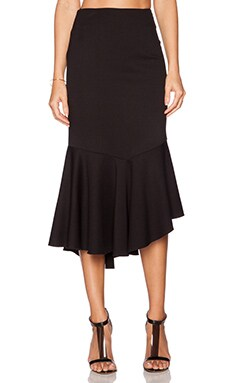 NICHOLAS Ponti Hem Frill Skirt in Black