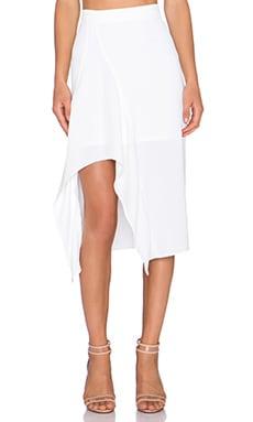 NICHOLAS Crepe Drape Insert Skirt in White