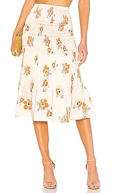 SMOCKED スカート NICHOLAS $239