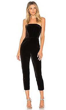 Velvet Strapless Jumpsuit