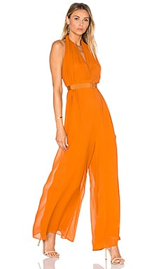 Halter Jumpsuit in Rust