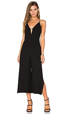 n / nicholas Split Jumpsuit in Black