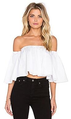 n / nicholas Off Shoulder Elastic Top in White