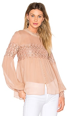 Balloon Sleeve Top en Tea Stain