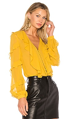 Silk Neck Ruffle Blouse