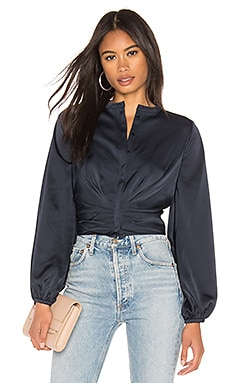 Satin Tuck Front Top NICHOLAS $295